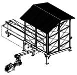 06652894 Automatyczny podajnik z zapalarką do spalania biomasy 27m3 400V 180kW, głowica: żeliwna, bez systemu załadowczego (paliwo: trociny, wióry, zrębki, kora, brykiet, agrobrykiet, pellet, pestki owoców)