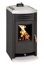 23055318 Piec wolnostojący 11kW na drewno, węgiel (średnica górna spalin: 150 mm)