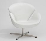 99851015 Fotel Cup inspirowany projektem Swan skóra (kolor: biały)