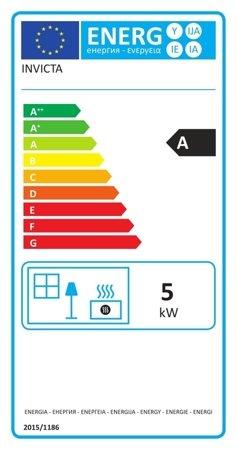 BINIKTA Piec wolnostojący Invicta 5kW Elo M (wylot spalin: góra, kolor: emalia biała) - spełnia anty-smogowy EkoProjekt 86865684