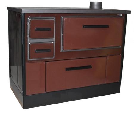 DOSTAWA GRATIS! 27772865 Kuchnia wolnostojąca, angielka na drewno 7,6kW, bez płaszcza wodnego (kolor: ciemno brązowy)