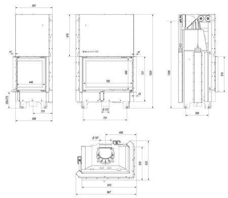 DOSTAWA GRATIS! 30055011 Wkład kominkowy 17kW MBA BS Gilotyna (prawa boczna szyba bez szprosa, drzwi podnoszone) - spełnia anty-smogowy EkoProjekt
