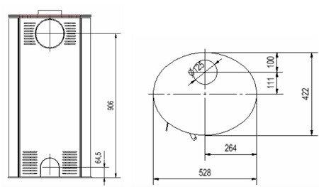 DOSTAWA GRATIS! 30060590 Piec wolnostojący koza 8kW AB (z panelami kaflowymi - czerwony) - spełnia anty-smogowy EkoProjekt