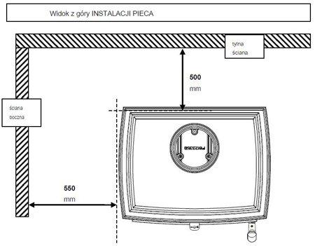 DOSTAWA GRATIS! 86865693 Piec wolnostojący Invicta 5kW Sedan S Plus (wylot spalin: góra, kolor: antracyt) - spełnia anty-smogowy EkoProjekt