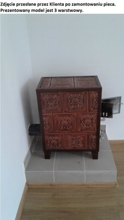DOSTAWA GRATIS! 92248840 Piec grzewczy kaflowy 9,5kW Retro pięciowarstwowy na drewno (wysokość: 122cm, wylot: 125mm)