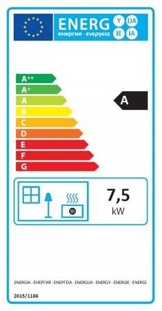 Piec wolnostojący 7,5-12kW (kolor: czerwony, wylot spalin: 120mm) - spełnia anty-smogowy EkoProjekt 99672873