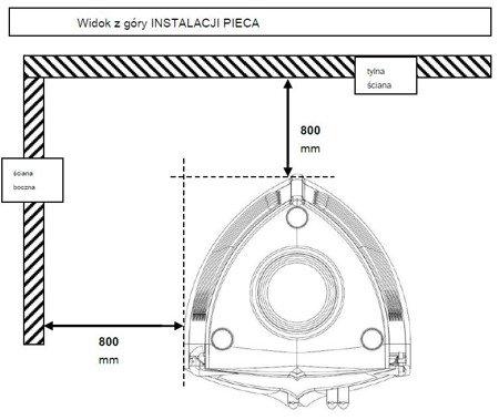 Piec wolnostojący Invicta 10kW Chamane 10 (górna średnica wylotu spalin: 180mm) - spełnia anty-smogowy EkoProjekt 86854945