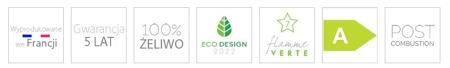 Piec wolnostojący Invicta 8kW Carolo (kolor: antracyt) - spełnia anty-smogowy EkoProjekt 86829183