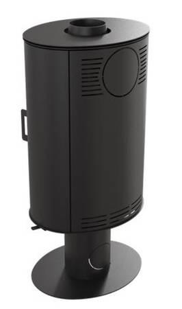 Piec wolnostojący koza 8kW KOZA AB GLASS (czarny) - spełnia anty-smogowy EkoProjekt 30071237