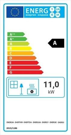 Wkład kominkowy 11kW Zibi 12 Deco (prawa boczna szyba) - spełnia anty-smogowy EkoProjekt 30065521